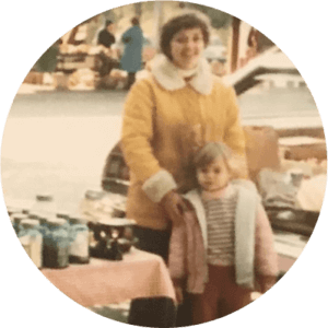 Mama Z as a child with her mother