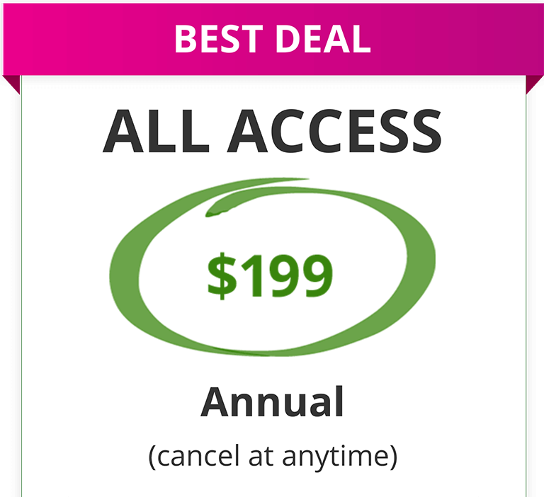 All Access Annual Pricing Chart